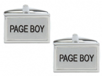 Dalaco 90-1467 Page Boy Wedding Rhodium Plated Cufflinks